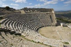 Das Theater in Segesta in Sizilien Lizenzfreies Stockbild