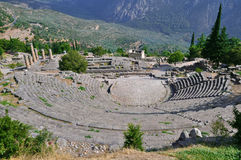 Das Theater von Delphi, gesehen von oben Stockfoto