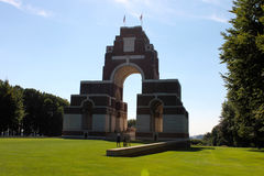 Das Thiepval-Denkmal zu den Vermissten des Sommes Stockbilder