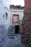 Das tibetanische Haus in Annapurana-Stromkreis lizenzfreie stockfotografie