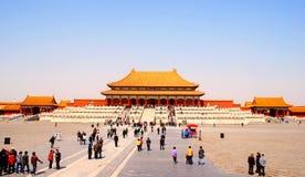 Das Tor der Obersten Harmonie in der Verbotenen Stadt, Peking, China Lizenzfreie Stockfotos