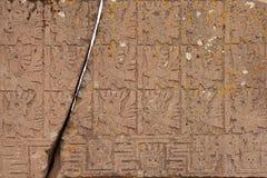 Das Tor der Sun-Nahaufnahme, Tiwanaku, Bolivien Lizenzfreies Stockbild