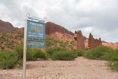 Das Tor des Felsformations-Teufels Stockbild