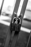 Das Tor ist verschlossen stockfoto