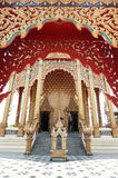 Das Tor in Wat Pai Lom Stockbild
