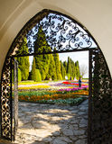 Das Tor zum Garten Stockfotos