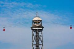 Das Torre Jaume I, Barcelona Stockfotos