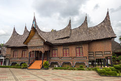 Das traditionelle Haus von Indonesien, traditionelles Haus der Replik wir stockbild