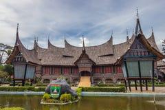 Das traditionelle Haus von Indonesien, traditionelles Haus der Replik wir stockfotos