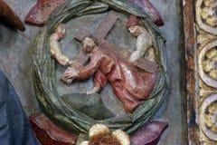 Das Tragen des Kreuzes Stockbilder