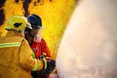 Das Training des Feuerwehrmanns lizenzfreies stockfoto
