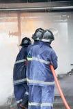 Das Training des Feuerwehrmanns Lizenzfreie Stockfotografie