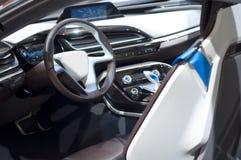 Das treibende Cockpit eines Autos. lizenzfreies stockbild