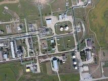 Das Trennungssystem, Draufsicht Aerophotographing-Stationstrennung und -dehydrierung Stockfoto