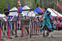 Das Turnier des Ritters Stockbild