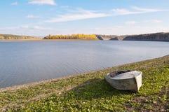 Das Ufer des Flusses Dnister Lizenzfreies Stockbild