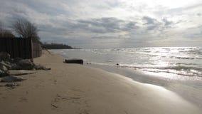 Das Ufer vom Eriesee lizenzfreies stockbild