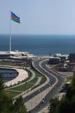Das Ufer von Baku Stockbild