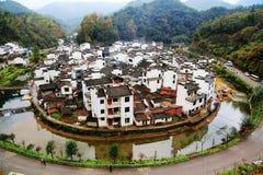 Das um Dorf in China, Jujing-Dorf Stockfotografie
