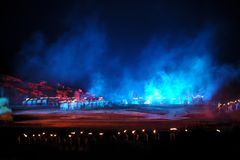 Das umfangreiche Flussufershow ` Jinggangshan-` Lizenzfreie Stockfotografie