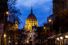 Das ungarische Parlament in Budapest Lizenzfreies Stockbild