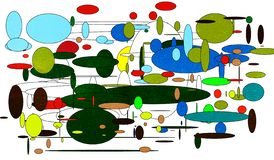 Das Universum im unvorstellbaren Chaos lizenzfreie abbildung