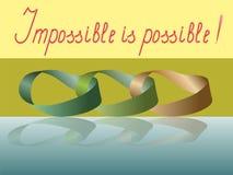 Das unmögliche ist möglich Stockfoto