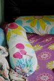 Das unordentliche Bett Stockbild