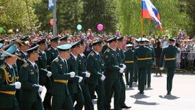 Das unsterbliche Regiment der Aktion auf Siegparade lizenzfreie stockbilder