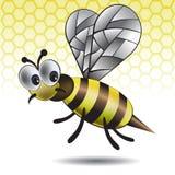 Das unterhaltende Vektorbild einer Biene Stockfotografie