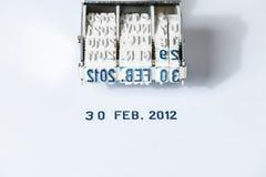 Das unwirkliche Datum Stockfotografie