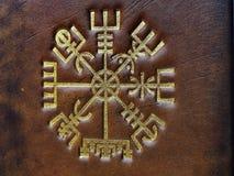 Das Vegvisir, altes isländisches magisches Symbol lizenzfreie stockfotografie