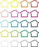 Das vektorbild des Hauses stockfotografie