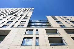 Das vektorbild Futuristisches Gebäude cityscape Lizenzfreies Stockfoto