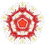 Das Vektorzusammenfassungsbild einer Blume Lizenzfreies Stockbild