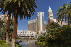 Das venetianische Hotel, wie vom Trugbild in Las Vegas, Nanovolt auf J gesehen Lizenzfreie Stockbilder