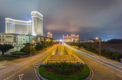 Das venetianische Macao nachts Lizenzfreie Stockfotos