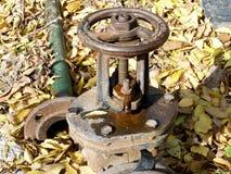 Das Verfahrenstor der Wasserversorgung Stockfoto