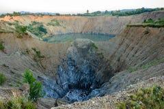 Das verlassene Bergwerk Stockbild
