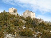Das verlassene Dörfchen, Frankreich stockbild
