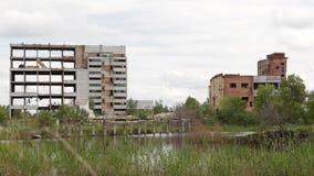 Das verlassene Gebäude stock footage