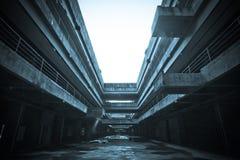 Das verlassene Stadtgebäude Stockfotos