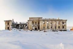 Das verlassene zweistöckige Gebäude Stockfotografie