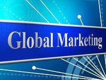 Das Vermarkten global stellt global weltliches dar und globalisiert Stockfotografie