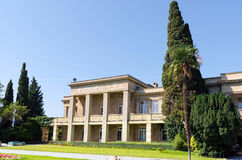 Das Verwaltungsgebäude der botanischen Gärten Nikitsky C Stockbild