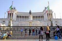 DAS VIKTORIANISCHE, VITTORIO EMANUELE-MONUMENT, VENEDIG-PIAZZA, ROM-` S HISTORISCHE MITTE, ITALIEN lizenzfreie stockfotos