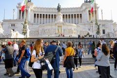 DAS VIKTORIANISCHE, VITTORIO EMANUELE-MONUMENT, VENEDIG-PIAZZA, ROM-` S HISTORISCHE MITTE, ITALIEN lizenzfreie stockbilder