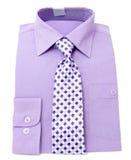 Das violette Hemd der Männer Stockfoto