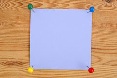 Das violette quadratische blan Stockfoto