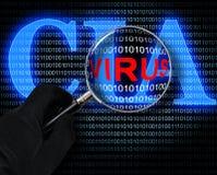 Das Virus und das CIA-Logo vektor abbildung